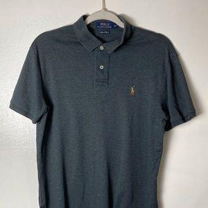 Ralph Lauren Gray Pima Soft Touch polo shirt. M